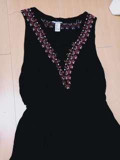 F21 bohemian inspired black dress