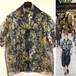 2018 new LV louis Vuitton men flowers shirt size L