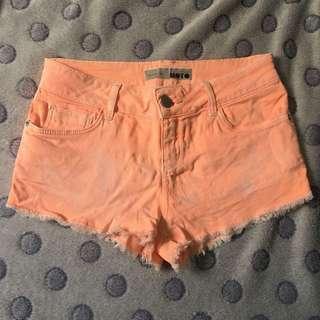 TopShop neon shorts