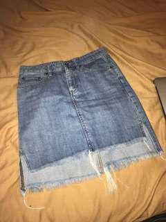 Denim skirt from bardot