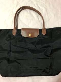 Longchamp Bag Black Tote Authentic