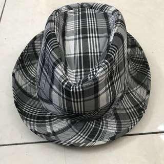 Topi fedora kotak kotak anak laki laki kasual / kids fedora hat