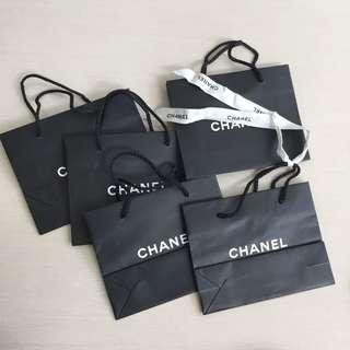 Take all 5pc chanel paperbag