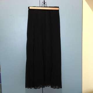 🚚 魚翅家 超顯瘦百褶長裙 黑 有瑕