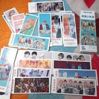 BTS Love Yourself Bookmark Pembatas buku isi 36 pcs ready stock