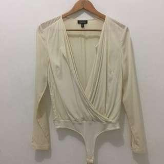 Bebe Broken White Blouse