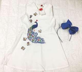 Peppermint dress and headband