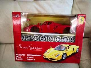 Maisto 1:24 1/24 enzo ferrari assembly kit model  red diecast die-cast Metal 100 % new