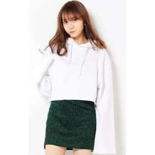 🚚 [全新] EMODA SWEATSHIRT 日本購入 短版毛邊寬袖衛衣