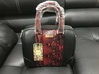 Tas bellagio - handbag black red