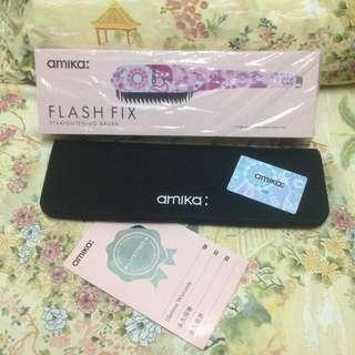 amika flash fix straightening blush 數碼熱能造型梳