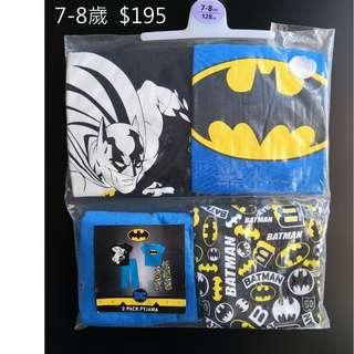 [全新] 英國直送primark 7-8歲小童蝙蝠俠衫褲一set4件