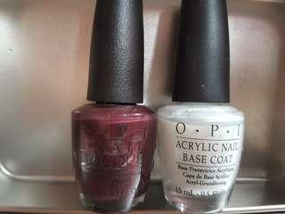 OPI Nail Polish & Base Coat set