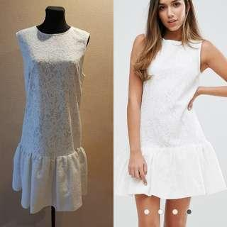 Warehouse Bonded Peplum Lace