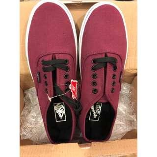 🚚 零碼出清US6 VANS Authentic Pro經典復古板鞋明星鞋款透氣帆布鞋基本款休閒鞋學生鞋情侶鞋 時尚百搭 酒紅