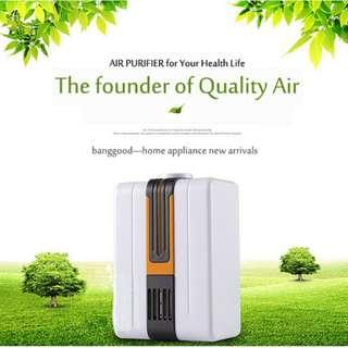 Negative Ion Home Mini Air Purifier Cleaner with Adapter