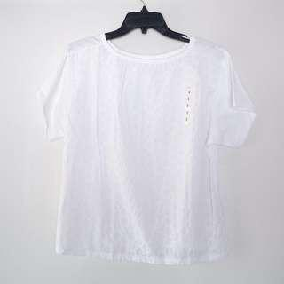 BRAND NEW Uniqlo Eyelet Top