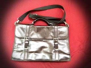 Fossil leather bag authentic thompson