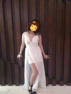 White Maxi Dress for Prom/Parties