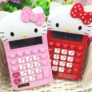 Hello Kitty KT HK calculator Red Pink