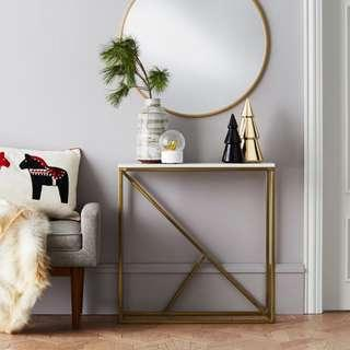 Minimalist Marble Console Table