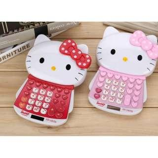 KT hello Kitty HK calculator pink or red