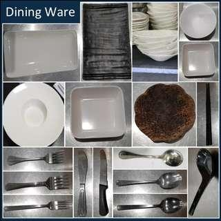 Restaurant Dining wares Stock Clearance (Used)