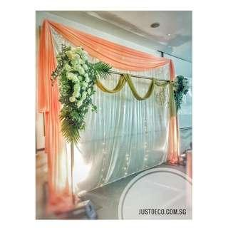 Birthday / ROM / Wedding & Backdrop Setup / Props Rental Service / Mini Pelamin / Mini Dais / Bangle Ceremony / Engagement / Baby Shower Deco
