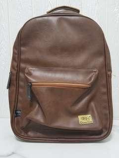 THREE BOX Backpack 人造皮