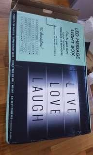 Message light box - Brand new