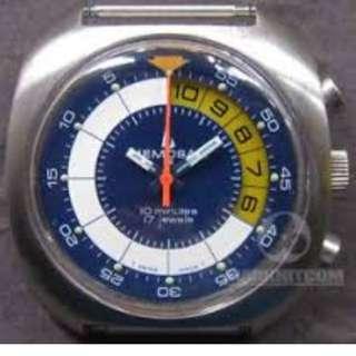 MEMOSAIL REGATTA 10 Minutes Yachting timer Counter CHRONOGRAPH SPORT-TECH 17 jewels Valjoux 7737 watch