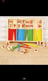 Wooden Montessori early maths learning