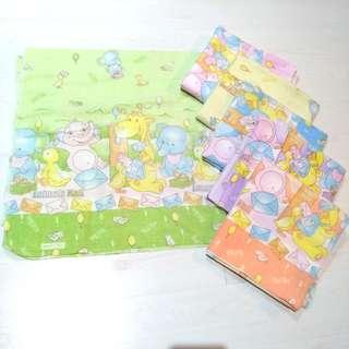 kain bedong bayi 6pcs