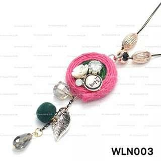 【Her Majesty的秘密花園】波西米亞編織花朵毛球葉子造型長鏈長項鍊WLN003