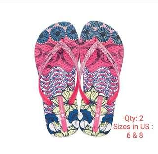 Ipanema Slippers 3 ( printed pink)