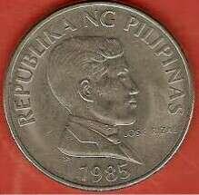 1 peso coin 1985