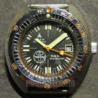 Doxa sub 300 T Us Divers Co Aqualung Synchron sharkhunter Ploprof Divers Watch