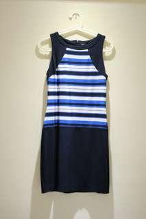 Mango MNG Suit blue white striped dress