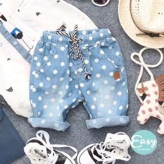Kids Boys Girls Unisex Denim Short Pants
