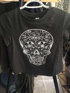 Sugar skull/Day of the Dead crop T