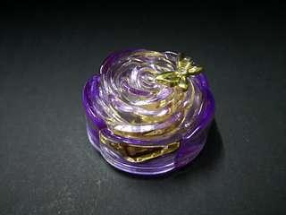 Transparent purple music box