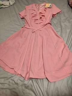 Pink Dress Bread n butter 👗 one piece