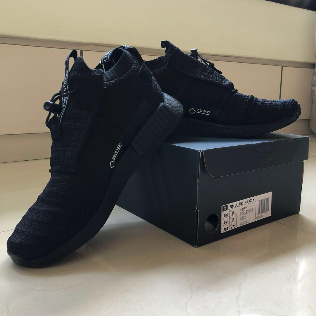 Adidas NMD TS1 Primeknit GoreTex 'Triple Black', Men's