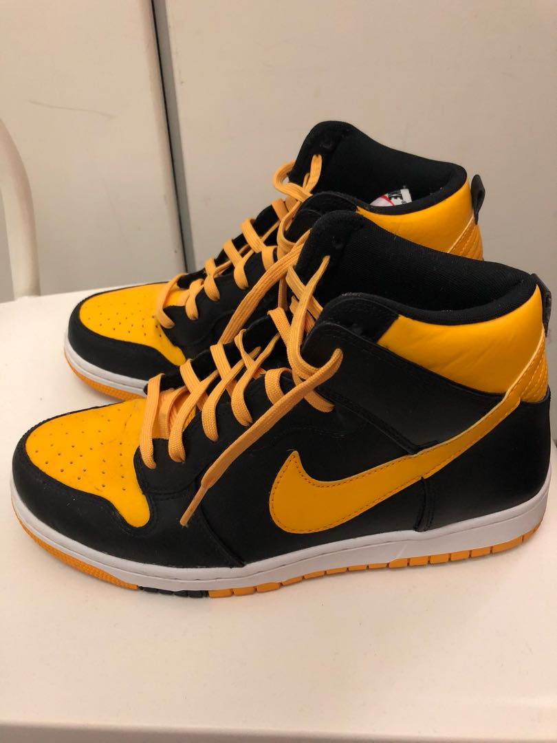 Air Force 1 High Black   Yellow dde89ca2f