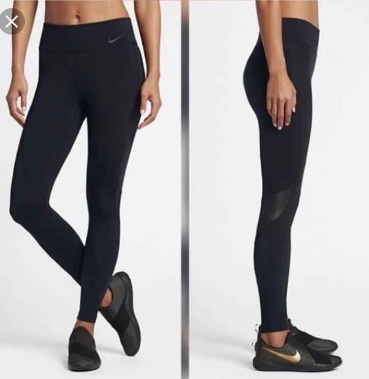 Pakaian Dri Fit Leggings Sukan Sukan Authentic Nike Mesh Peralatan 0ATqOU