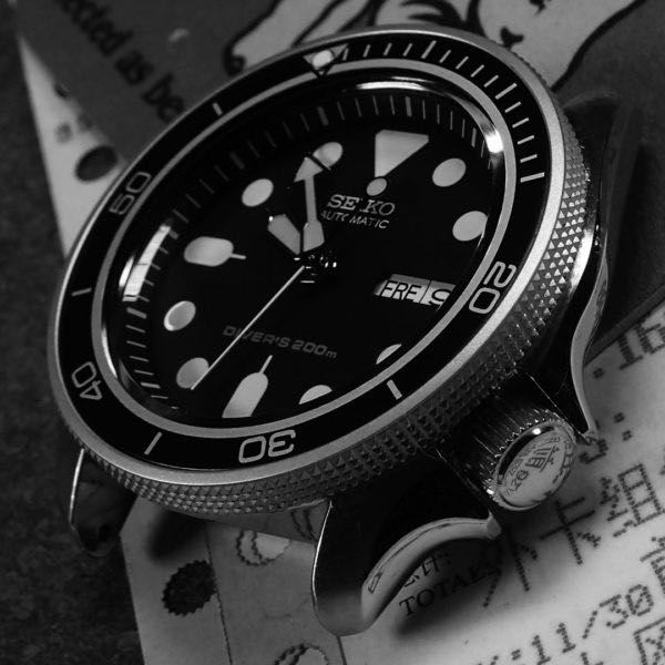 Bezel Insert - THE   PLANET OCEAN   MK 2 – BLACK – ALUMINIUM BEZEL INSERT  FOR SEIKO SKX 007
