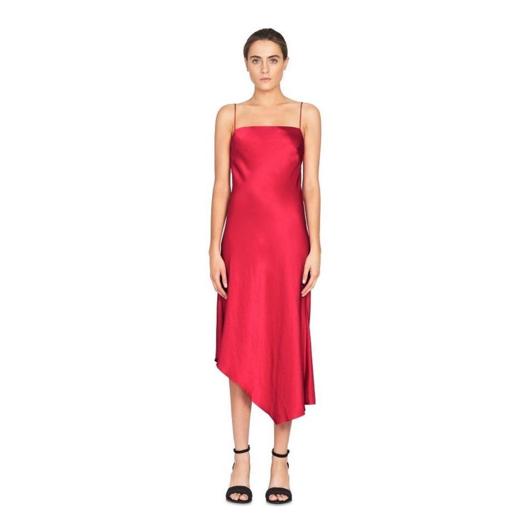 BNWT CAMILLA & MARC RASPBERRY SIROCCO SLIP DRESS - SIZE 6 RRP $550