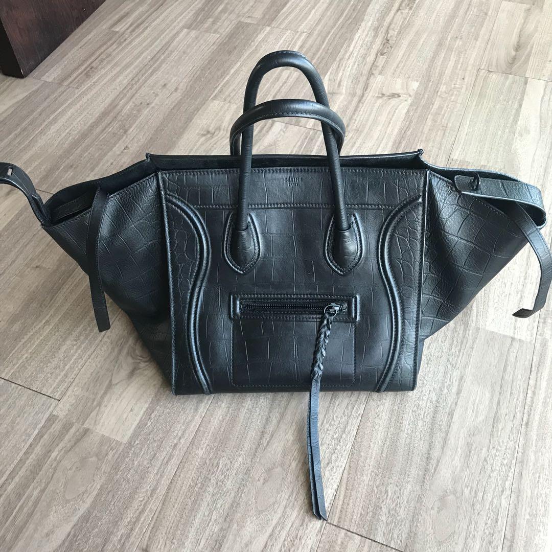 6fe068b3ec59 Celine Large Phantom Tote Bag  Croc Stamped Calfskin Leather