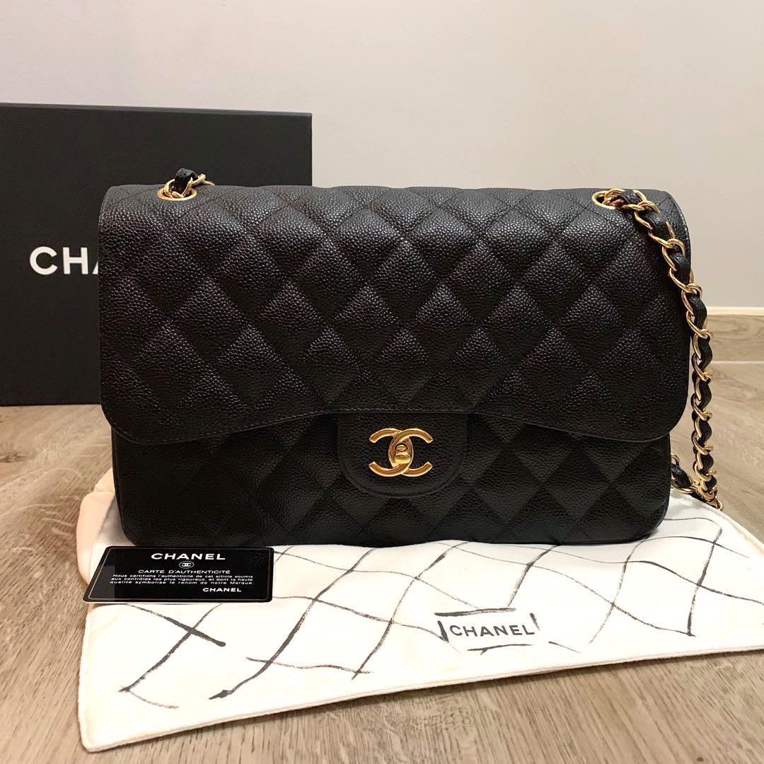 6315b358bda300 Chanel Classic Jumbo Double Flap Caviar GHW, Luxury, Bags & Wallets ...