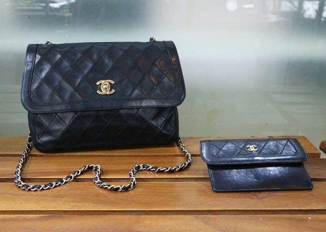 99cf2eaa62ced4 Chanel vintage sling #2 GHW (holo db pengganti, pouch), Women's ...